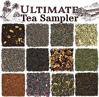 Solstice Loose Leaf Tea Ultimate Sampler Feat. 12 Teas; Sencha & Gunpowder Green Tea, Masala Chai Black Tea, Rooibos Herbal Tea, And More! Approx 180+ Servings