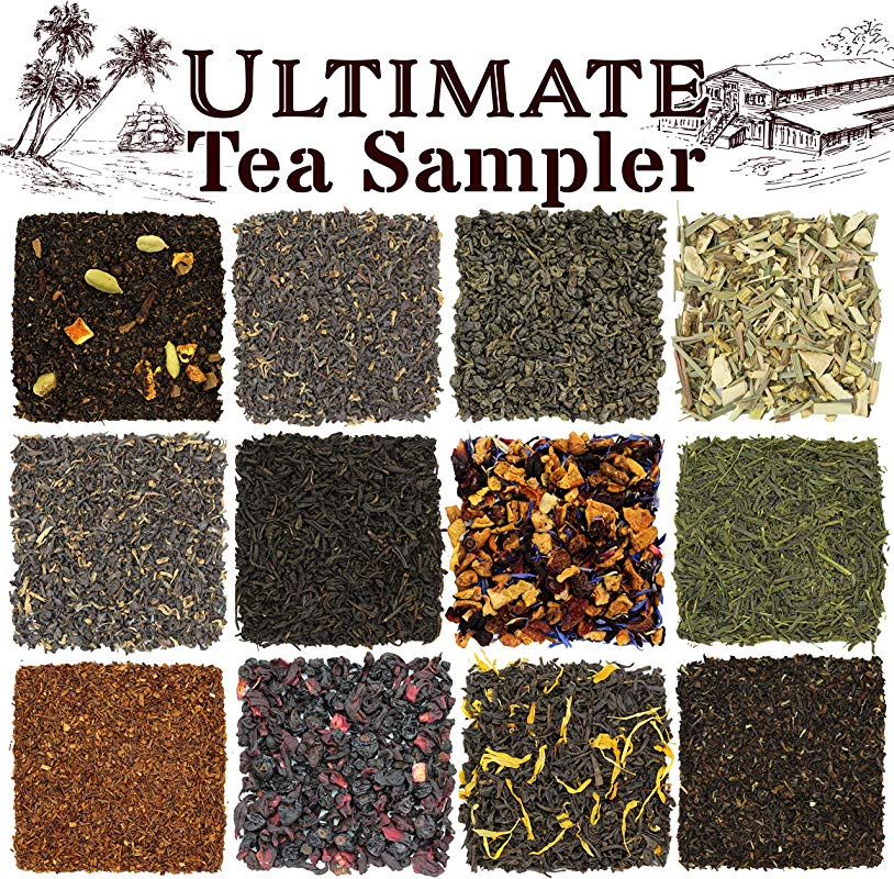 Solstice Loose Leaf Tea Ultimate Sampler Feat 12 Teas Sencha Gunpowder Green Tea Masala Chai Black Tea Rooibos Herbal Tea And More Approx 180 Servings