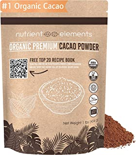 2lb Premium Organic Cacao Powder - Certified Organic Cacao for Baking, Smoothies and More - Keto Super-food for Daily Use - Made from Highly Prized Criollo Beans in Peru - Gluten-Free & Vegan