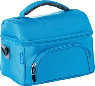 Bentgo Lunch Bag (Blue) - Insulated Lunch Tote for Work and School with Top and Main Compartments, 2-Way Zipper, Adjustabl...