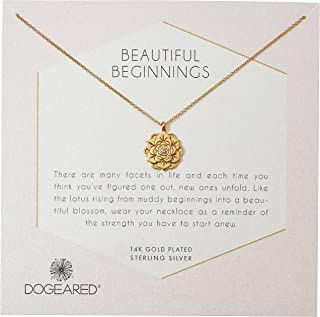 Dogeared Womens Gold Double Link Friends Chain Necklace, 16
