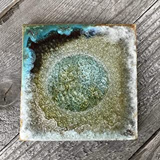 Crackle Glass Coaster Fused Glass Coaster DOLPHIN Geode Crackle Coaster Dock 6 Pottery Agate Coaster Dock 6 Pottery Coaster Individual Coaster Geode Coaster Kerry Brooks Pottery