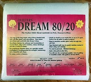 Quilter's Dream 80/20, White, Select Loft Batting - Double Size 96