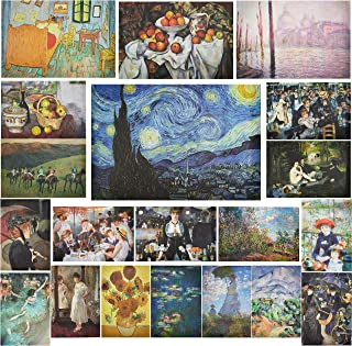Impressionists Art Posters for Decorations (13 x 19 in, 20 Pack)