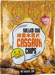 Fragrance Salted Egg Tapioca Chips, 130g