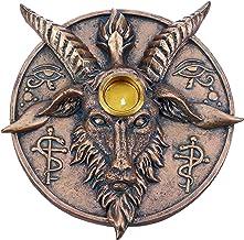 Nemesis Now Baphomet's Prayer Sabbatic Goat Incense Stick and Candle Holder, Bronze, 12.6cm