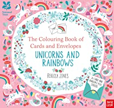 The Colouring Book of Cards and Envelopes: Unicorns and Rainbows