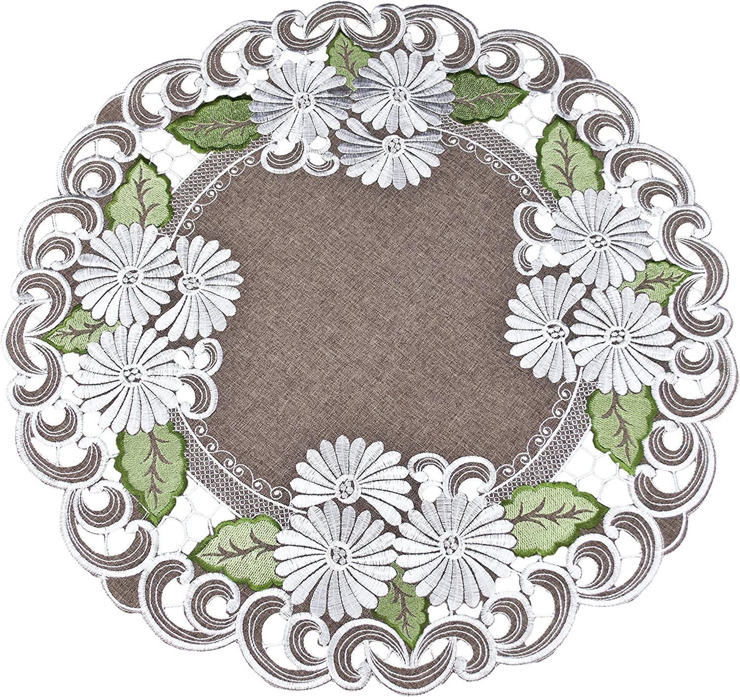 Small Tablecloth Centerpiece Large Doily a Silv Embroidered Max 77% OFF Max 47% OFF with