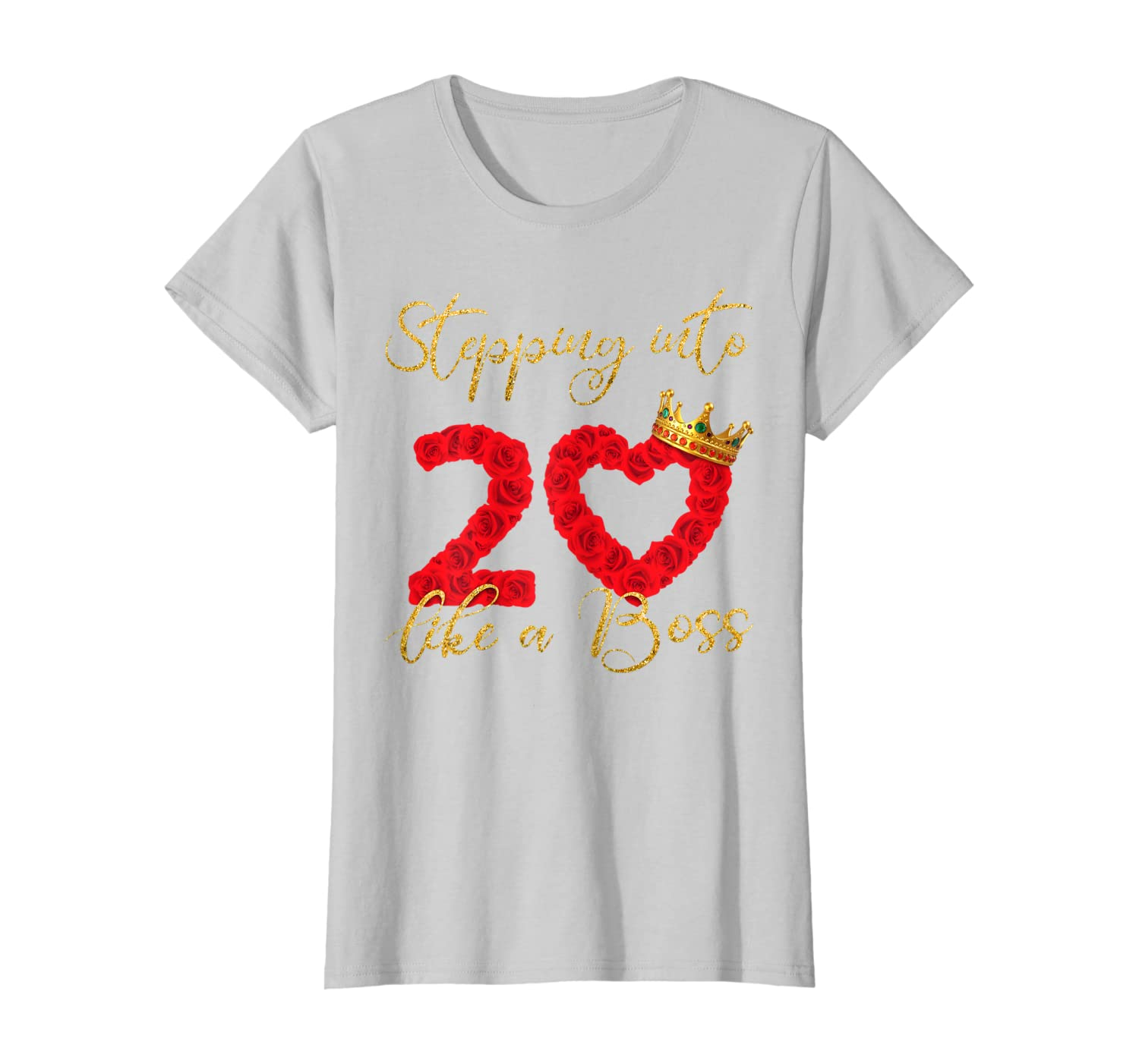 Womens Stepping into 20th Birthday Like a Boss 20 years old gifts T-Shirt