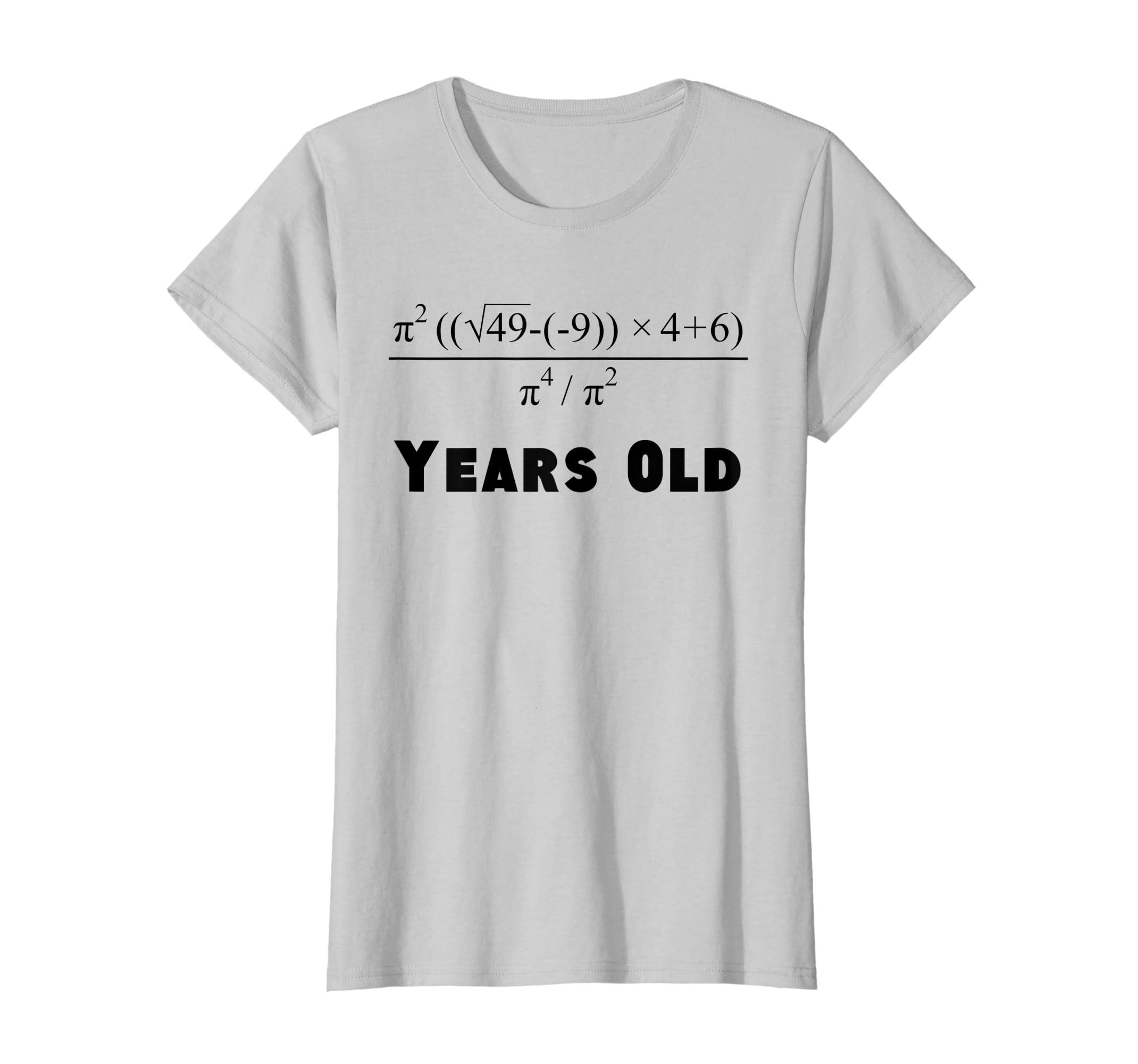9d08941a Amazon.com: 70 Years Old Algebra Equation Funny 70th Birthday Math Shirt:  Clothing