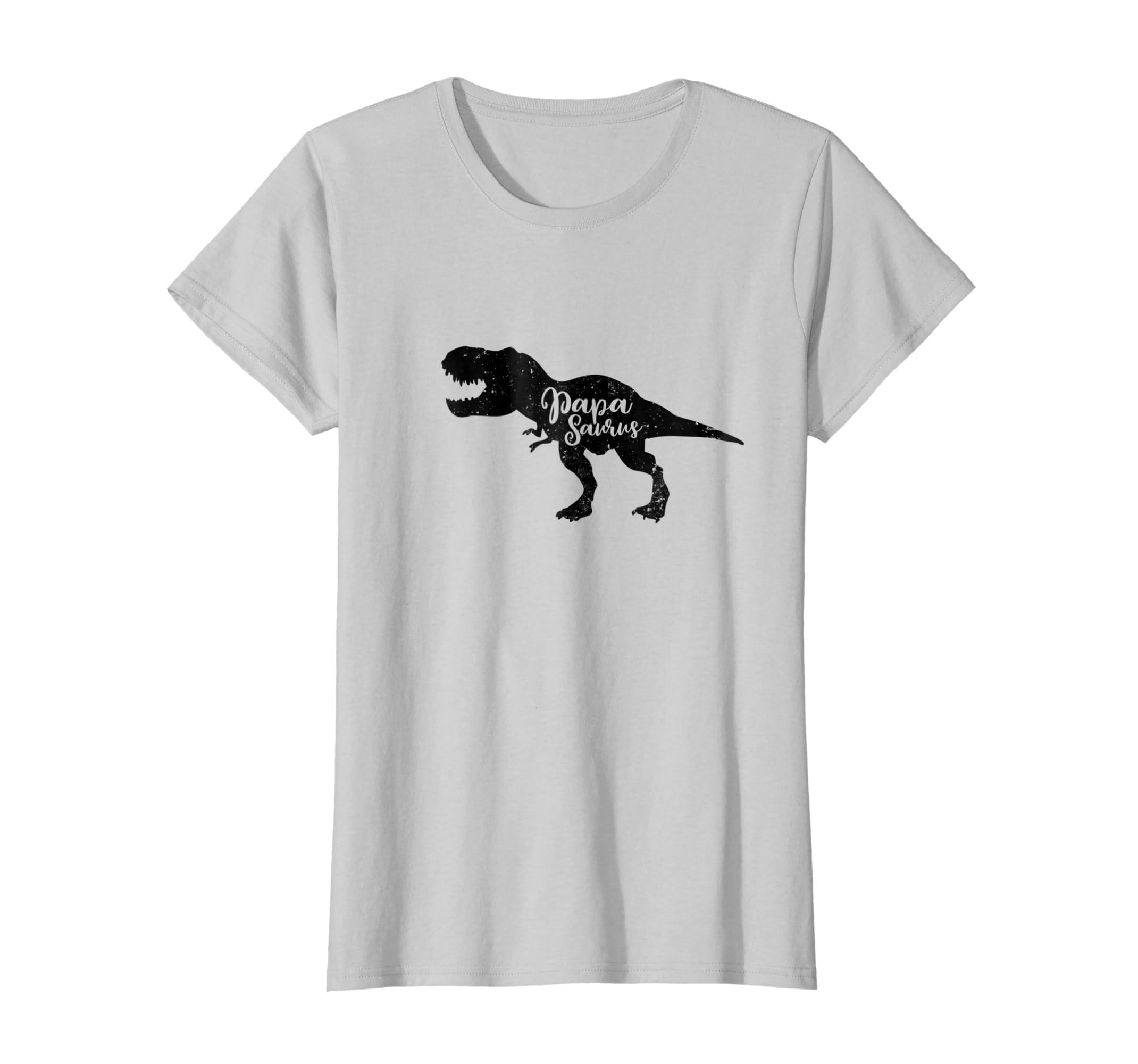 b6c054b3 Amazon.com: Papasaurus Rex Funny Dad Dinosaur Retro Fathers Day T Shirt:  Clothing