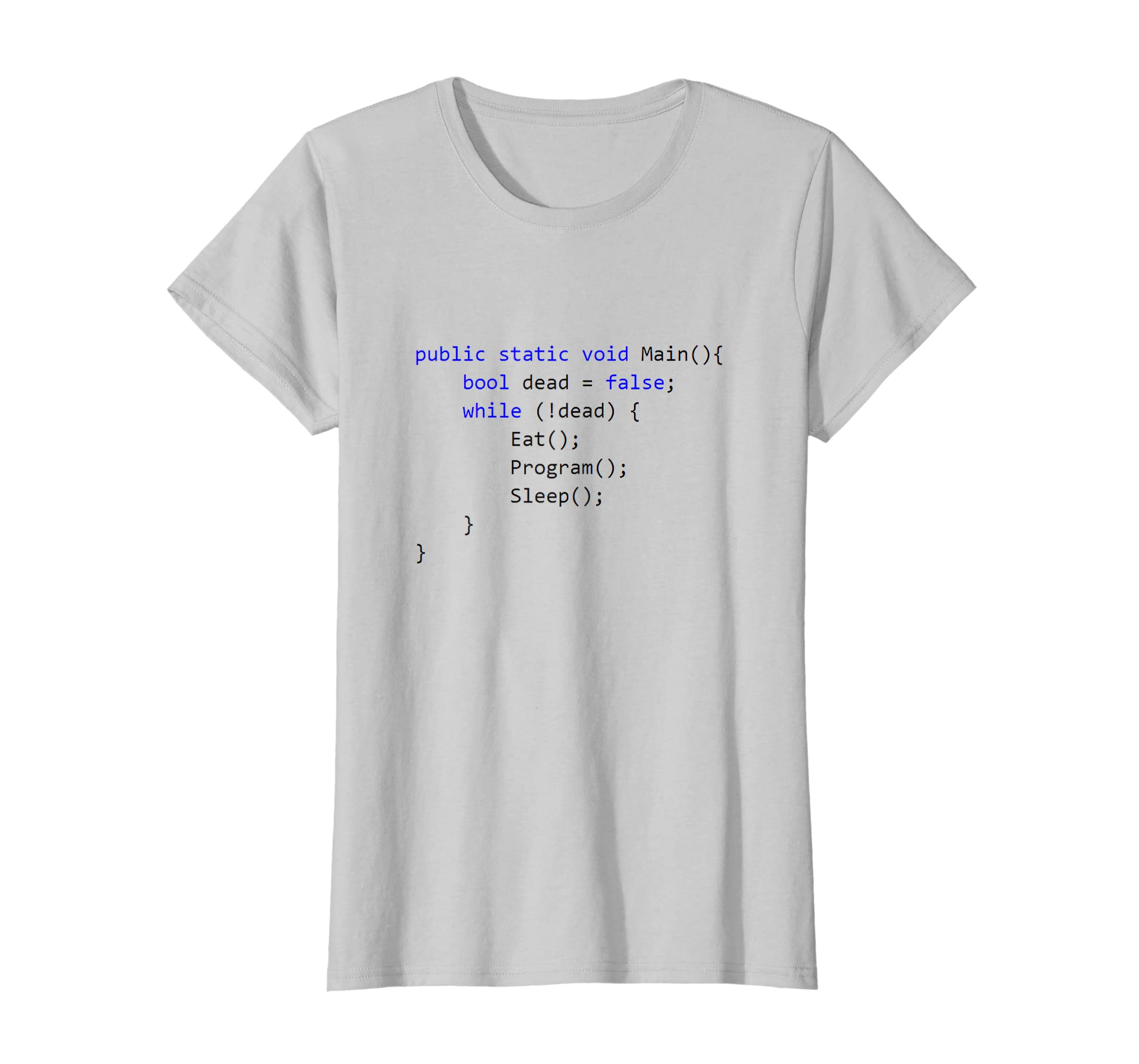 83c98a8d Amazon.com: C# Programming The Life As a Programmer T-Shirt: Clothing