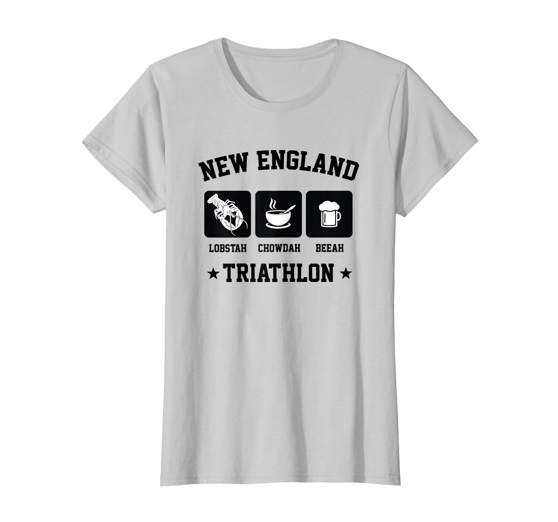 d92df165f Amazon.com: New England Triathlon Lobster Clam Chowder and Beer t-shirt:  Clothing