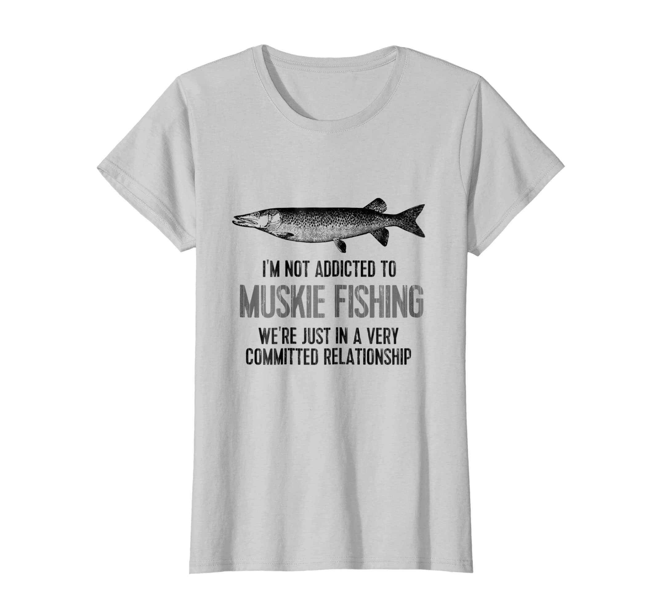 778b8f94 Amazon.com: Funny Muskie Fishing TShirt: Not Addicted to Muskie Fishing:  Clothing