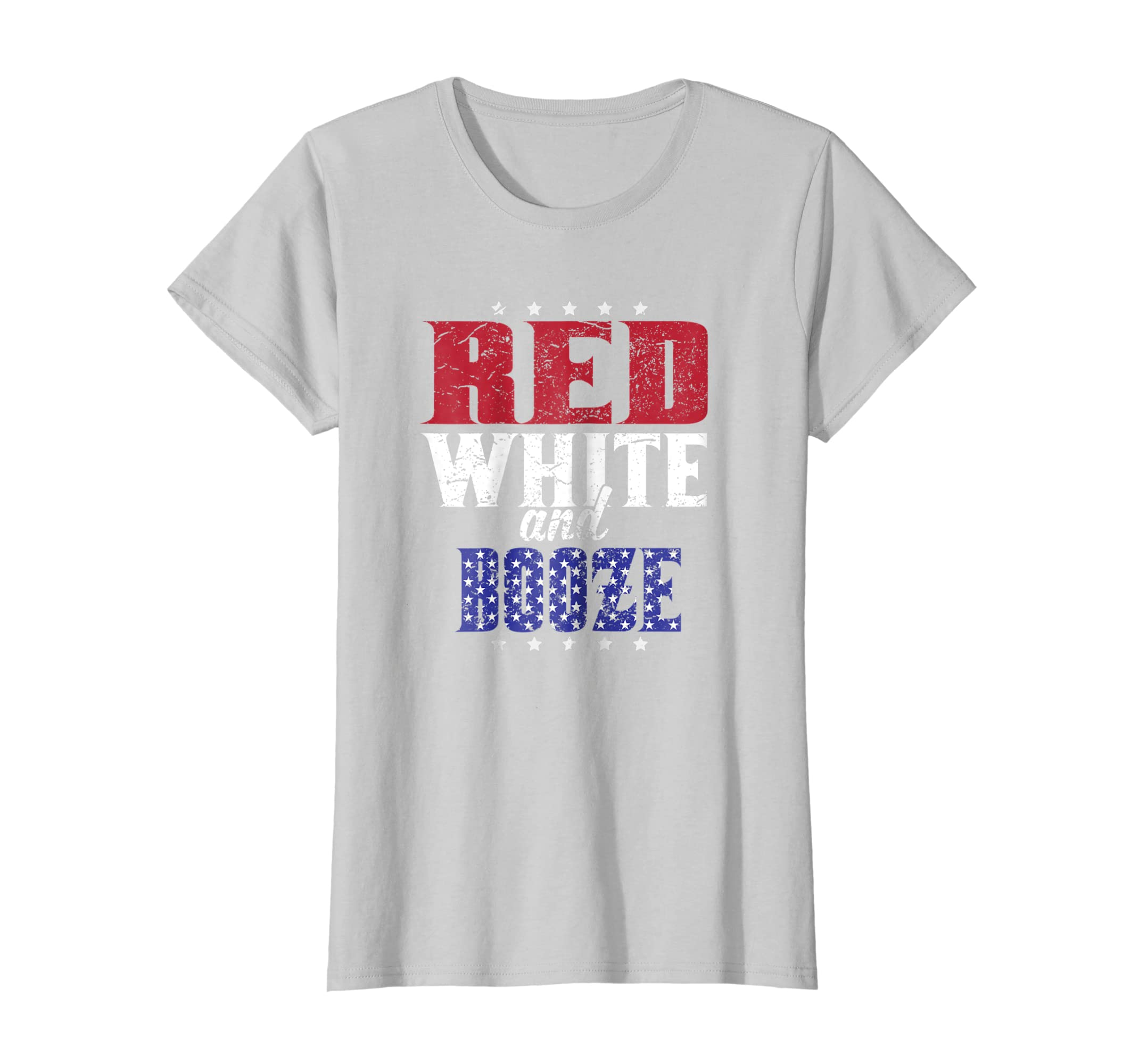 6b31838a Amazon.com: 4th Of July Red White and Booze Drinking Shirt: Clothing