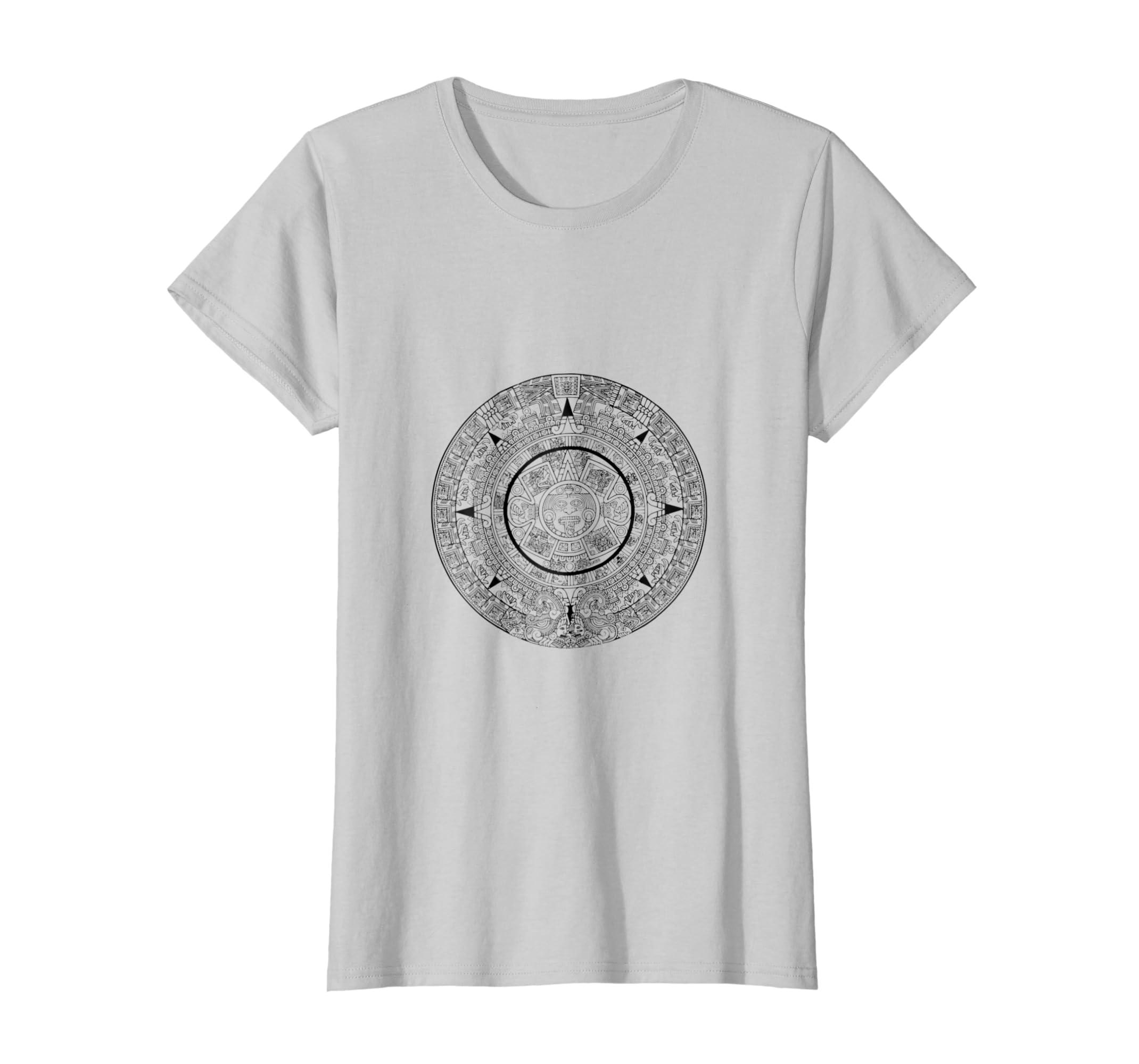 1cf05f6f0 Amazon.com: Aztec T-Shirt Inca Empire Mexican Mayan Mythical Calendar:  Clothing