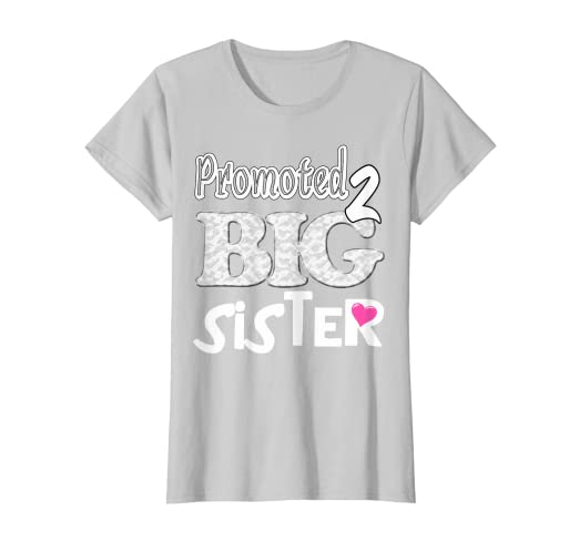 859d655a Image Unavailable. Image not available for. Color: Promoted Big Sister  Pregnancy Gender Reveal T-shirt