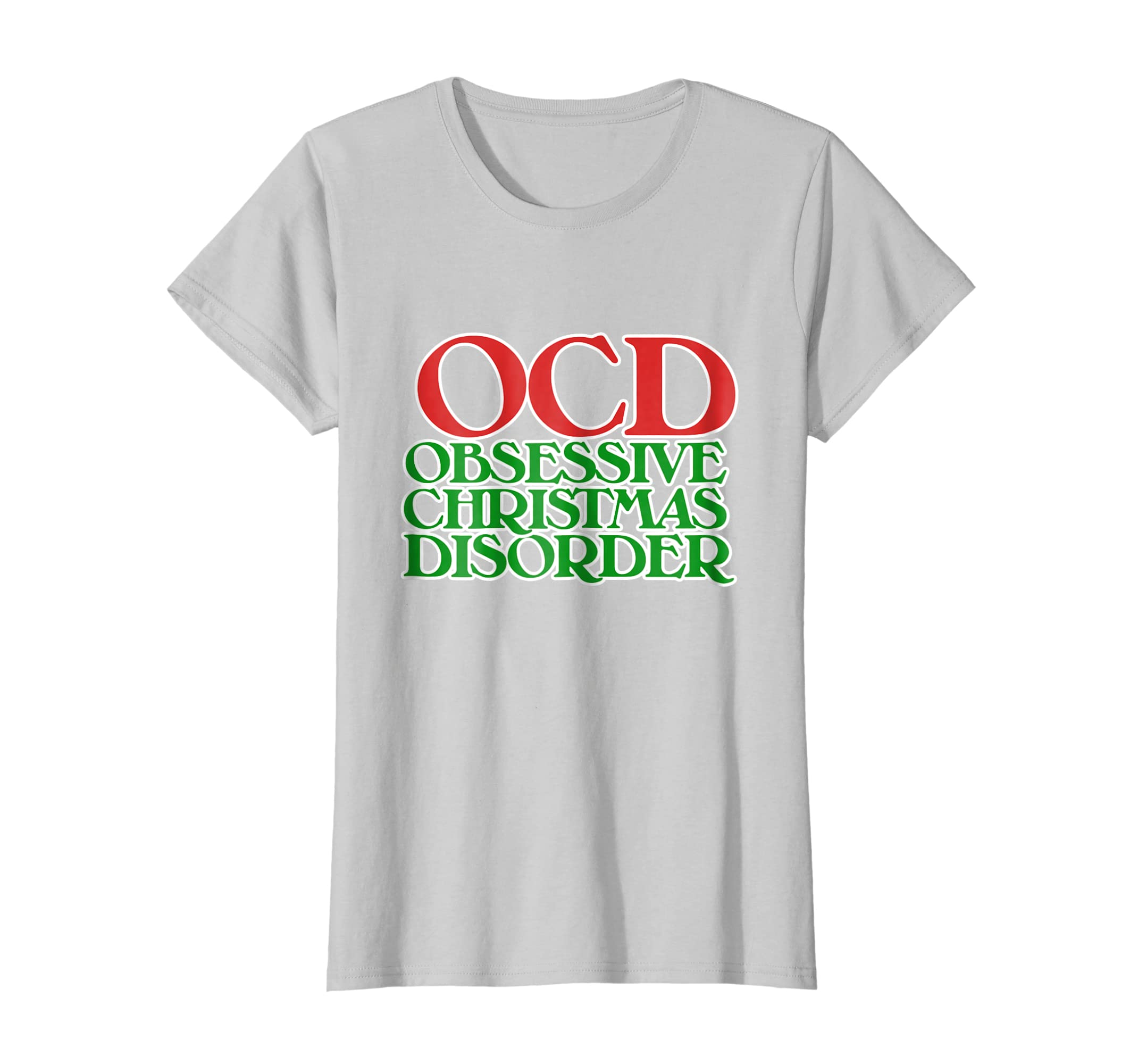 Amazon.com: OCD Obsessive Christmas disorder shirt Christmas t-shirt ...