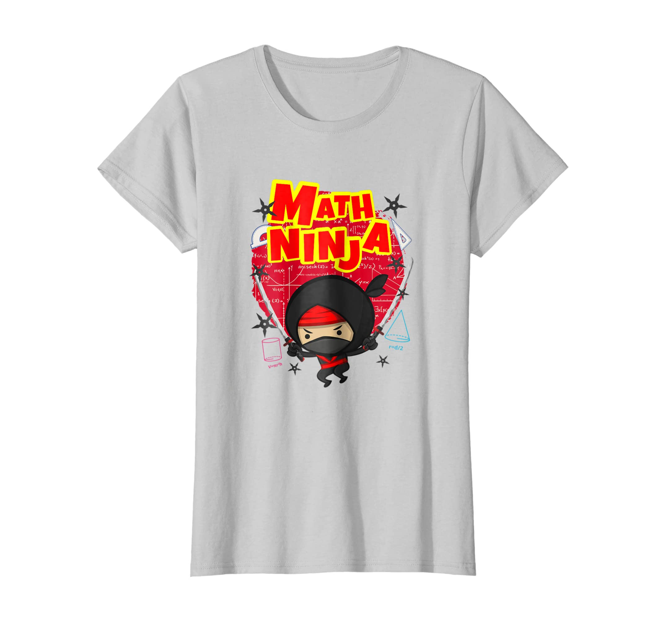 Amazon.com: Math Ninja T-Shirt for A Mathematics Teacher or ...