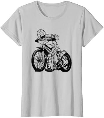Speedway Bahnsport Motorradrennen T Shirt Bekleidung