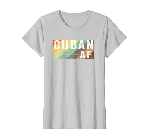 Amazon.com: Vintage Retro Cuban AF T shirt Funny Old School 70s & 80s: Clothing