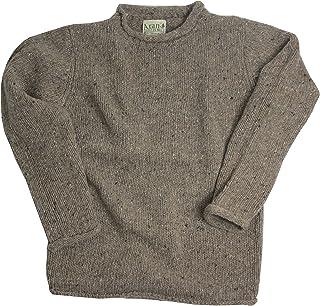 McLaughlins Irish Shop Aran Woollen Mills Pullover Lavorato a Maglia Troyer Tradizionale Celtico 100/% Lana Merino con Design a Nodo Trinity e Bottoni