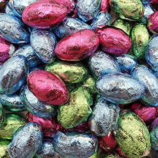 Hershey's Easter Solid Milk Chocolate Eggs, Pastel colors, (2.25 Pound)