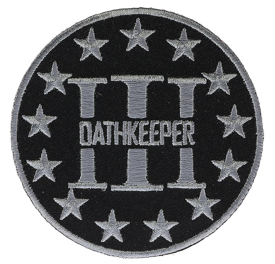 Three Percenter Oathkeeper Biker Patch 3 inch IVANP4774