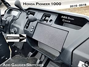 Fits Honda Pioneer 1000 blank ABS Plastic Cover Plate For Mounting stereo or Gauges