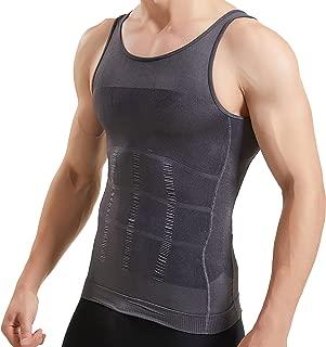 Mens Body Shaper Slimming Shirt Compression Vest Elastic Slim Shapewear