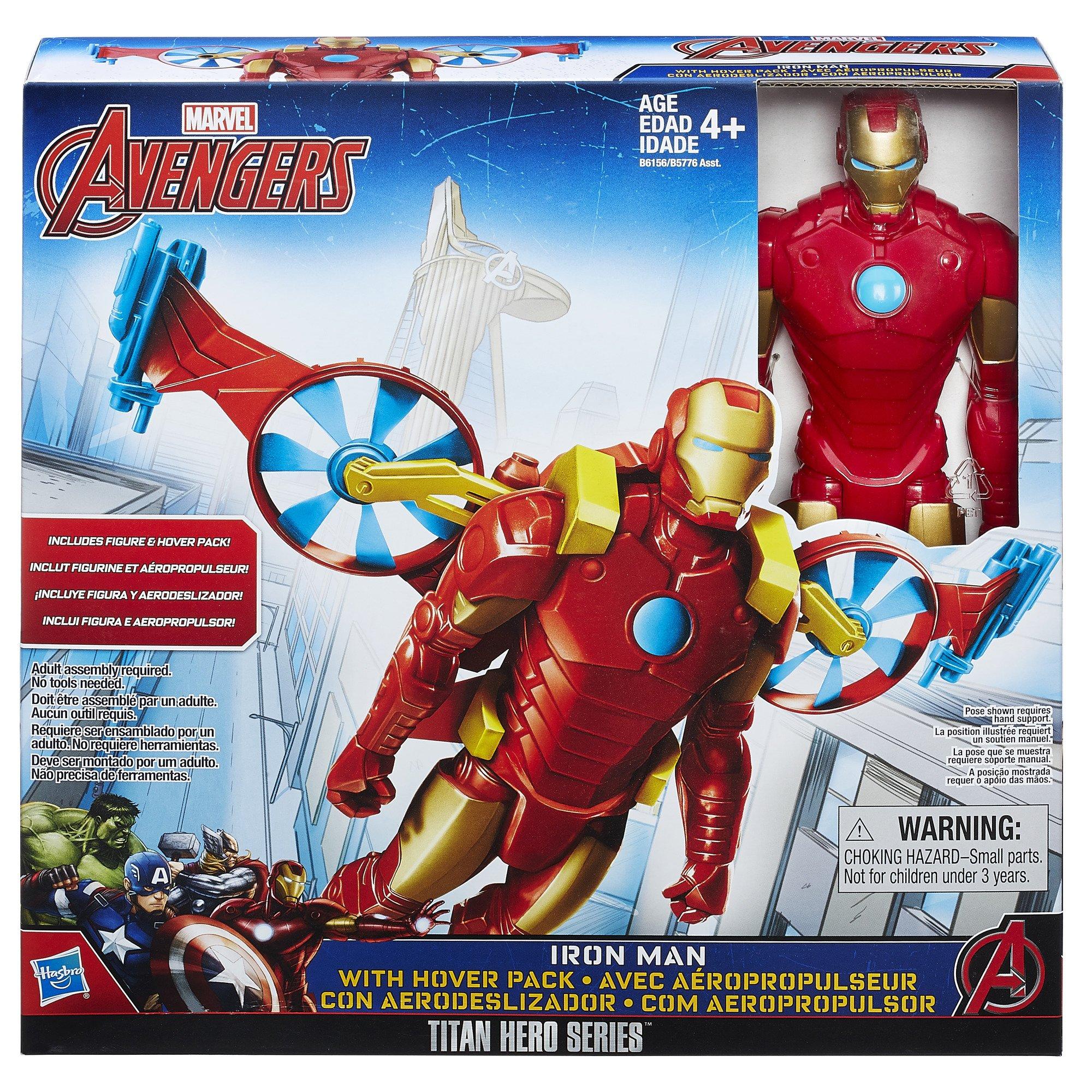 Marvel Titan Hero Series Iron Man With Hover Pack: Amazon.es ...