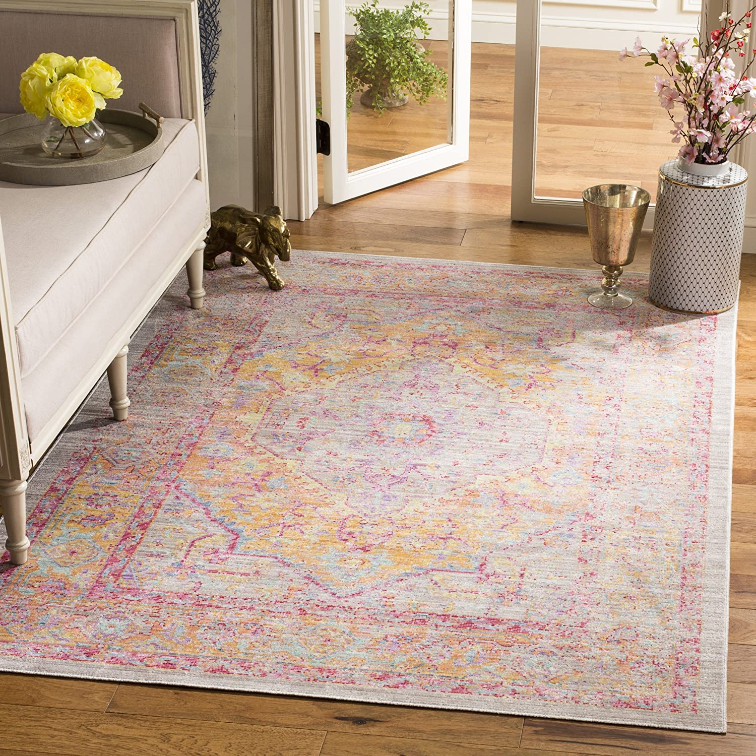Safavieh Windsor Collection WDS307C Distressed Shabby Choice Chic Boho San Francisco Mall