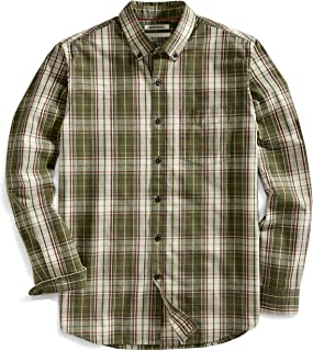 Goodthreads Men's Standard-Fit Long-Sleeve Plaid Slub Shirt