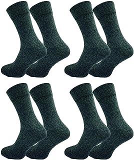 4 pares de calcetines de hombre de alta calidad, 94% algodón, un punto ligeramente más grueso, sin costuras apretadas, algodón peinado, para el invierno, para negocios y ocio