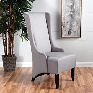 Christopher Knight Home Callie Light Grey Fabric Dining Chair