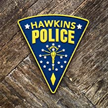 Stranger Things Hawkins Police Jim Hopper PVC Rubber Morale Patch – Hook Backed with Loop Attachment Piece That Can Be Sewn On – by NEO Tactical Gear