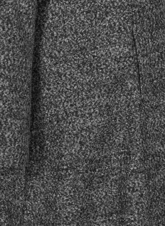 Zizzi Damen Große Größen Mantel Kapuze Jacke Klassisch Wintermantel Gr 42-56 Grau