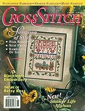 Cross Stitch Sampler Magazine June 1995 - A Sampling of Silk, Blackwork Embroidery, The Life of Betsy Ross, Shaker Life Afghan