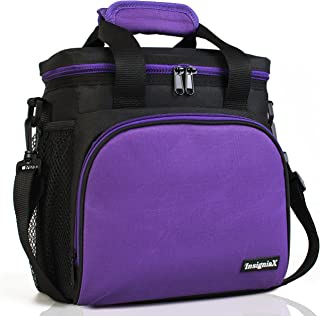 [インシグニアモール]Insignia Mall Insulated Lunch Bag: Adult Lunch Box For Work, Men, With Adjustable Strap, Front [並行輸入品]