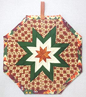 amish folded star hot pad