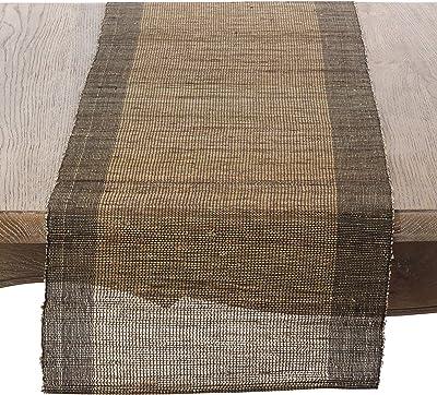 SARO LIFESTYLE Classic Heavy Denier Linen Table Runner 16 x 72 Natural