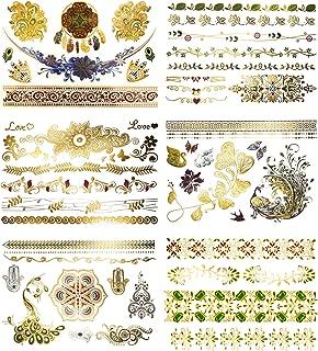 Terra Tattoos Floral Metallic Tattoos - 75 Temp Tats