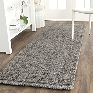 Safavieh Natural Fiber Collection NF447G Hand Woven Light Grey Jute Runner (2'6