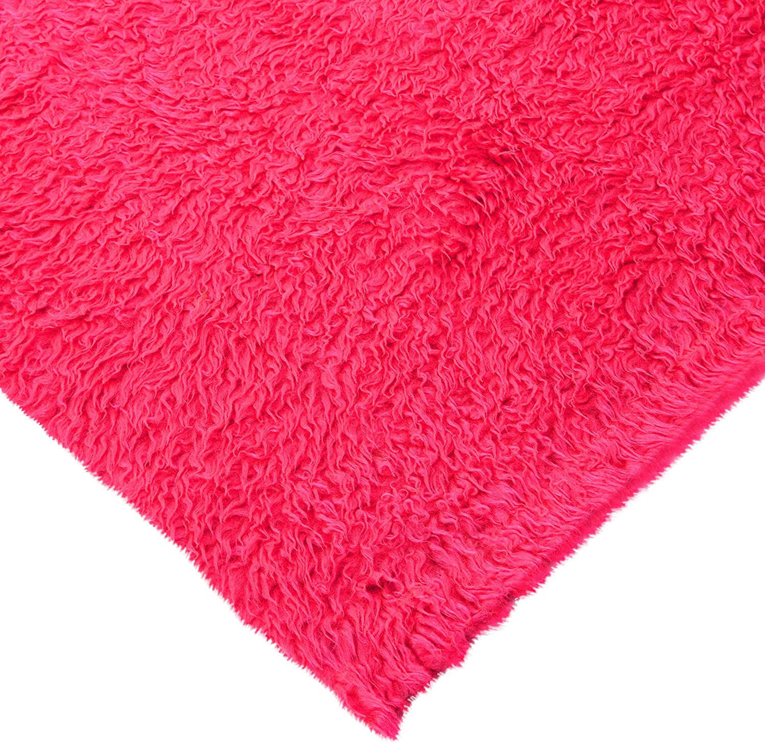 CERISE PINK CURLY Teddy Faux Fur Fabric Material