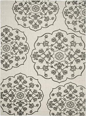 "Safavieh Cottage Collection COT912C Area Rug, 8' x 11'2"", Cream/Grey"