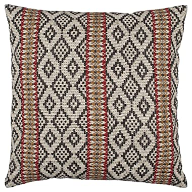 Amazon Brand – Stone & Beam Mojave-Inspired Decorative Throw Pillow Cover and Insert, 20  x 20 , Black and Red