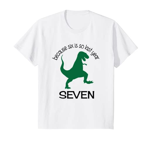 Amazon Kids Dinosaur 7th Birthday Boy Shirt 7