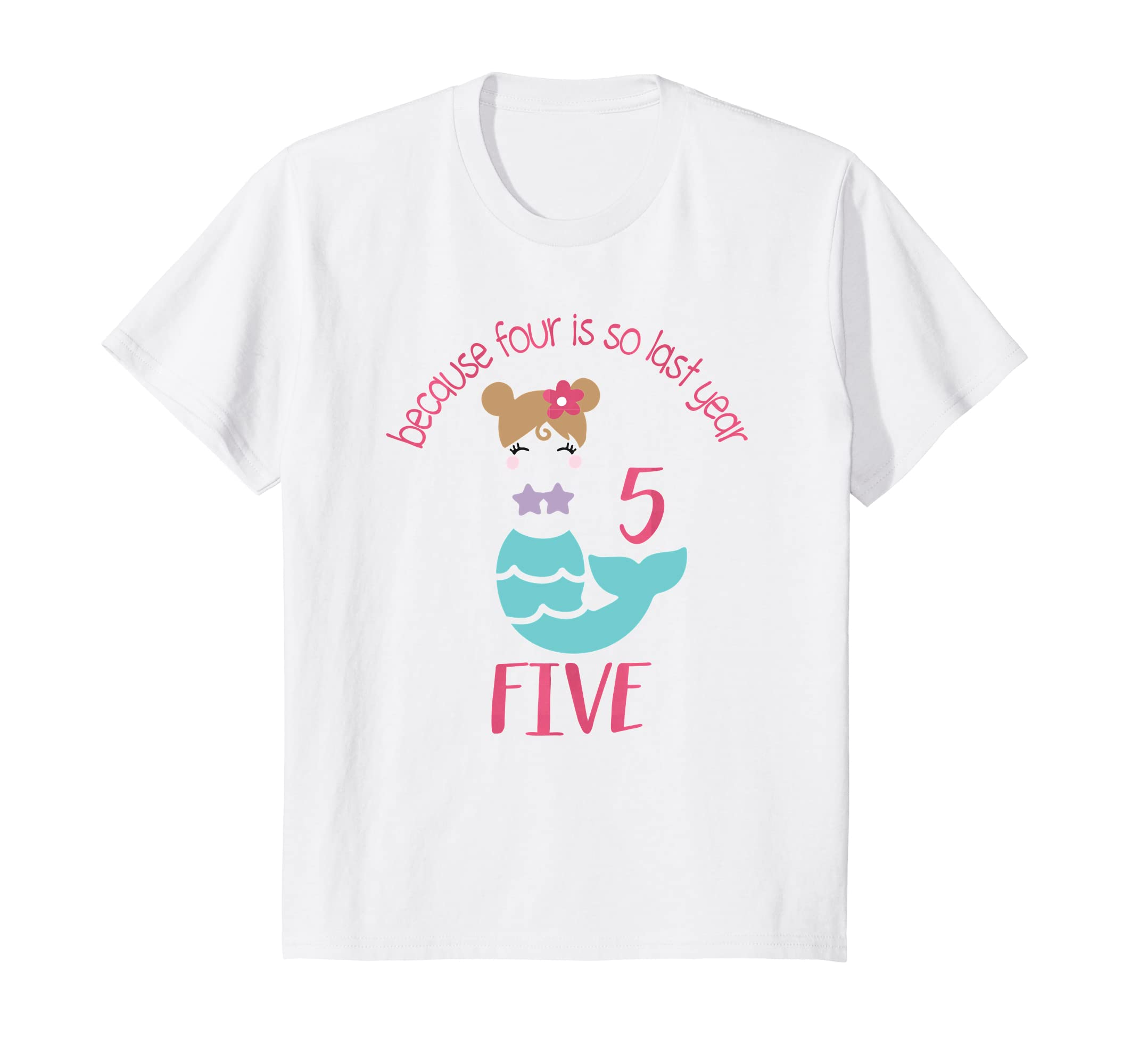 Amazon Kids Five Year Old Girl Birthday Outfit Mermaid Shirt 5 Clothing