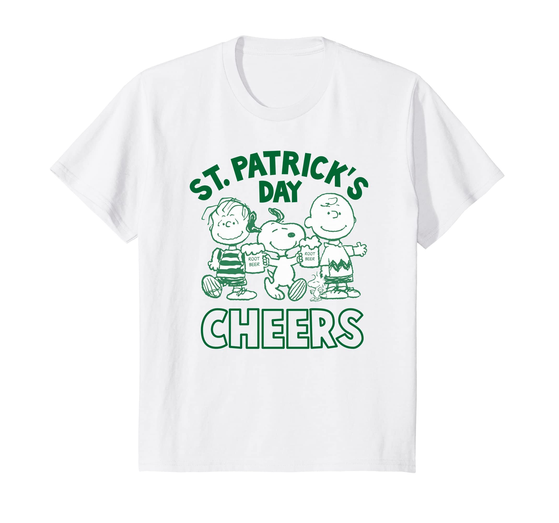 af5f96d2 Amazon.com: Peanuts Snoopy St. Patrick's Charlie Brown Cheers T-shirt:  Clothing