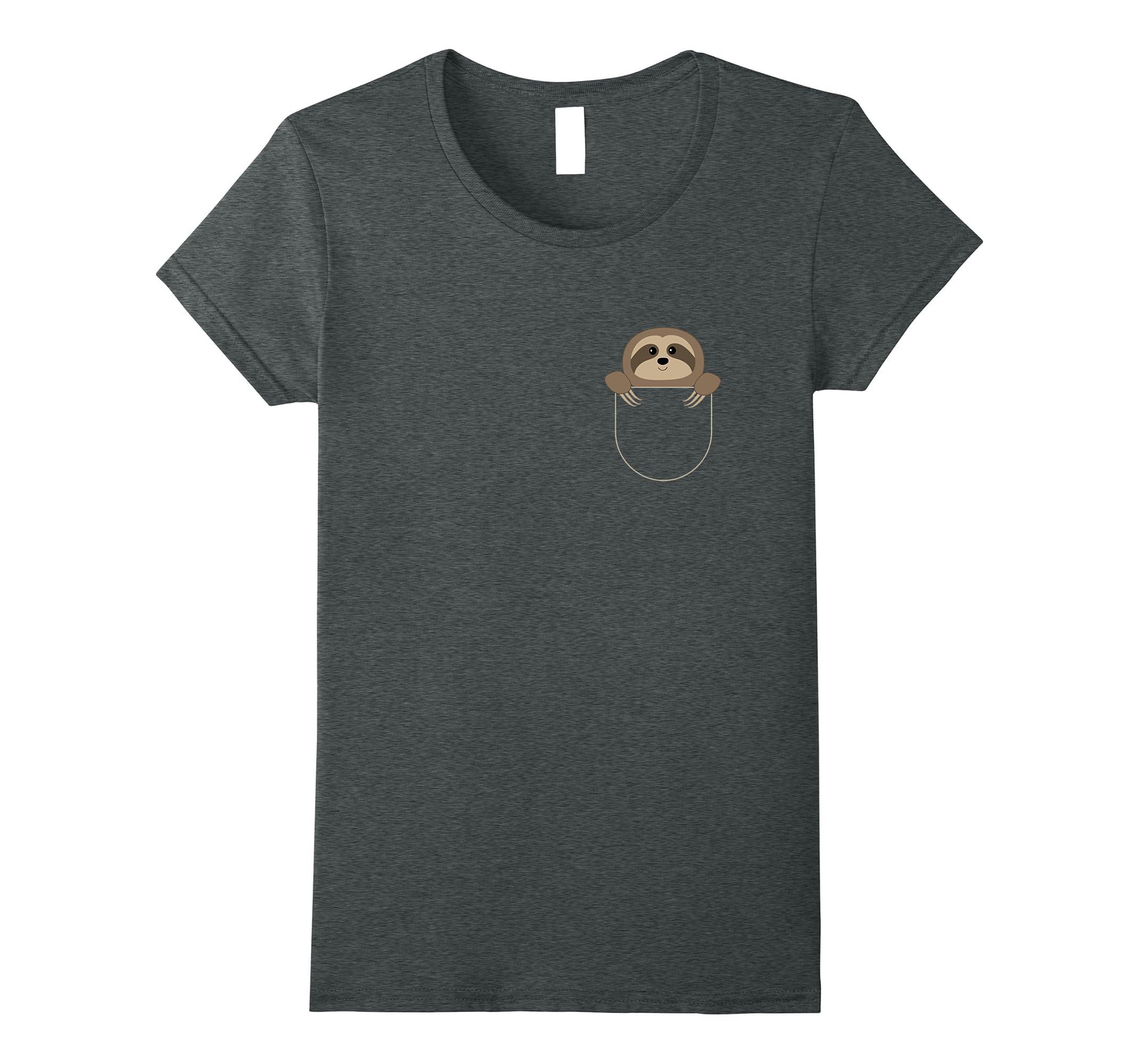 Chillin Sloth Pocket T Shirt Funny-Tovacu